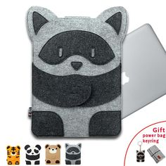 Laptop Bag for MacBook Air Pro 11 12 13 14 15 Laptop Sleeve Case for Mac 13.3 Inch Cute Cartoon Characters   Free Gift