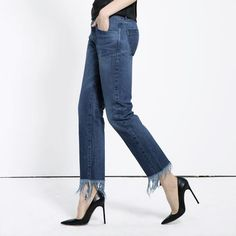 The much anticipated 3x1 WM3 Crop Fringe Jean in Lima is now available for pre-order at 3x1.us!