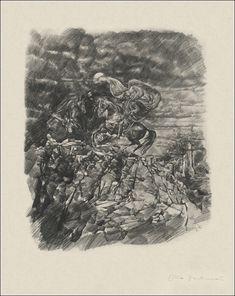 Otto Bachmann. Zwölf Zeichnungen zu Goethes Faust. Zürich, Morgarten-Verlag, 1943. Goethe's Faust, Black And White Illustration, Literature, Draw, Books, Graphics, Illustrations, Scribble, Drawing S