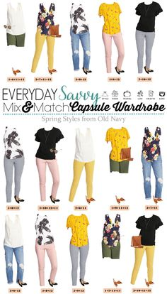 Cute Spring Outfit Ideas from Old Navy. These casual spring outfits make it easy to look cute everyday and don't break the bank! #springstyle #springoutfits #oldnavy via @everydaysavvy