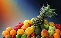 Tropical Fruits Desktop Wallpaper