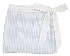 Seersucker Bow Skirt $72
