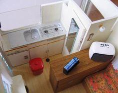 Interior miniature travel trailer