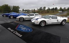 October 2008, Braselton, Georgia. One of my clients loaned his #FordGT (far right) to the American Le Mans Series for display during the Petit Le Mans race. Ah, back in the day.... #ALMS