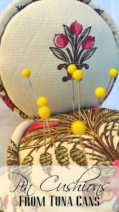 Pin Cushions diy craft is featured in Best UP-Cycled Crafts – Feature Friday Favorite Five