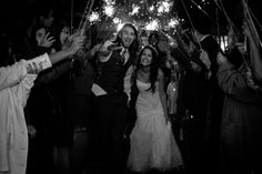 Jessica and Daniel - We bought the 36 inch sparklers and they were great. The sparklers lasted long enough for our 160 guests to light their own sparkler and form two lines for our exit. - Raiza Vega Photography