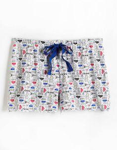 Printed Cotton Pajama Shorts Cotton Pyjamas, Pajamas, Pajama Shorts, Lord & Taylor, Patterned Shorts, Printed Cotton, Casual Shorts, Prints, Women
