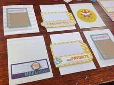 Today I'm sharing some fun cards I made using journaling cards and lots of little embellishments from the August Gossamer Blue kits . Project Life, Gossamer Blue, Mish Mash, Life Inspiration, Cool Cards, Journal Cards, Some Fun, You And I, Embellishments