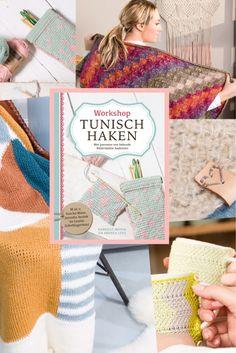 Nog een paar dagen en dan is de boekpresentatie van Workshop tunisch haken.. Op een foto zie je een greep uit alle leuke projecten die er in staan. En daarnaast heeft het boek heel veel aandacht voor de technieken en steken. Kortom een echte aanrader!!  Het boek bestellen: http://www.wolcafe.nl/Boek-workshop-tunisch-haken?utm_content=buffer4e43e&utm_medium=social&utm_source=pinterest.com&utm_campaign=buffer  Schrijf je in voor de gratis workshop op 17 juni…