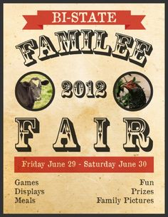 Poster for Family Reunion with a Fair Theme