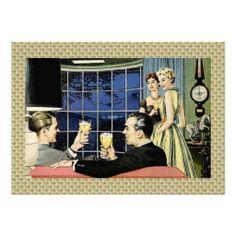 Retro 1950s Cocktail Party Invitations