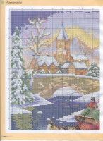 Gallery.ru / Фото #8 - ФР_01(46)_2013 г. - f-morgan Christmas Cross, Creations, Cross Stitch, Diagram, Map, Punto De Cruz, Seed Stitch, Location Map, Punto Croce