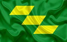 Download wallpapers Flag of Miyazaki Prefecture, Japan, 4k, green flag, silk flag, symbols, Miyazaki, emblem, symbols of Japanese prefectures