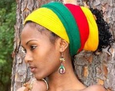 Rastafari Rules for Women - Rastafarianism & Jamaican Culture Bob Marley, Jamaican Women, Rasta Colors, African Head Wraps, Head Wrap Headband, Glam Hair, We Are The World, Halloween Disfraces, Bad Hair Day