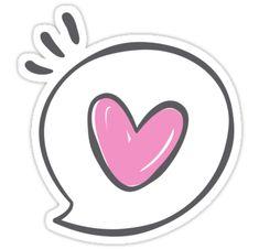 'Heart Speech Bubble Sticker' Sticker by vanessavolk Emoji Drawings, Kawaii Drawings, Easy Drawings, Bubble Stickers, Cute Stickers, Image Clipart, Affinity Photo, Iphone Icon, Aesthetic Stickers