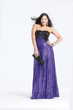 a12c0118e39 Faviana Prom Dress Style 9275 available in Black Purple