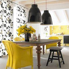 Gelb in der Küche #yellow #kitchen