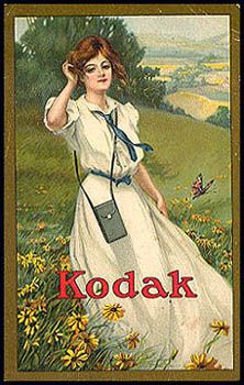 """Pocket Catalog, no date. From 1907 through early 1930s Kodak periodically issued 3 1/2 x 5 1/2"""" 32-page pocket catalogs."""