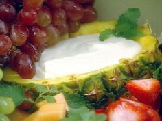 Recipe for Fresh Fruit with Creamy Fruit Dip.