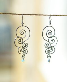 Wire earrings, check it out and try it yourself, you'll be amazed of the beautiful things you can make with wire.