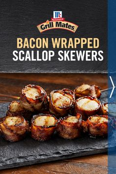 From epic barbecues to laid back cookouts and spontaneous parties around the grill, be bold this summer with Grill Mates Roasted Garlic & Herb Seasoning and this Bacon Wrapped Scallops recipe. Grilling Recipes, Fish Recipes, Seafood Recipes, Low Carb Recipes, Appetizer Recipes, Great Recipes, Cooking Recipes, Appetizers, Favorite Recipes