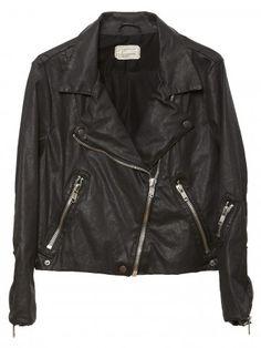 Chaquetas de Cuero | Leather Jackets  Prendas clave para toda la vida #MustHave Chaqueta Biker de Current/Elliott disponible en www.styleto.co