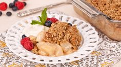 Pear Apple Crisp - Recipes - Best Recipes Ever - Fall favourites - pears and apples - team together in this easy crisp dessert.
