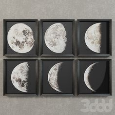 Restoration Hardware 1896 Moon photogravure prints