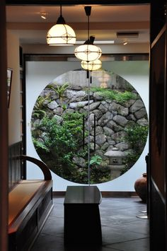 from Hannah Nunn's blog... the circle doorway and lightshades