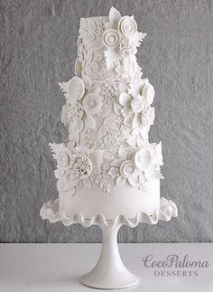 Indescribable Your Wedding Cakes Ideas. Exhilarating Your Wedding Cakes Ideas. Floral Wedding Cakes, White Wedding Cakes, Elegant Wedding Cakes, Elegant Cakes, Wedding Cake Designs, Floral Cake, Cake Wedding, Purple Wedding, Gold Wedding