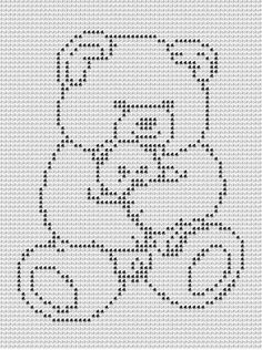 TEDDYBEAR CROCHET AFGHAN PATTERN. Picture only