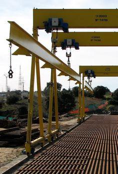 Instalación porticos ferroviarios para Adif