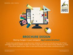 #Brochure #Design Making changes in your #company? Say it with a #brochure Do you have something new to say about your company?  Brochures are the best way to do it! These seemingly insignificant leaflets of paper can make a huge impact when done correctly. Whether you have a new service added to your roster or have some exciting news to share, a brochure can do it. For More Details Please Visit http://www.designjuice.in #branding_services #branding_design #logo_design #ResponsiveWebDesign…