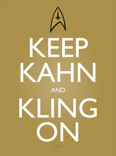 I really have to be honest, I don't know Star Trek all that well...but I do know who Kahn is for the new JJ Abrams film! ;P