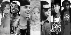 Rihanna, Wiz Khalifa, Chris Brown, Nicki Minaj, Drake, Tyga, & Lil' Wayne