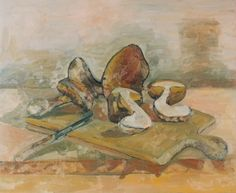 This is the time of year (the fall), for mushrooms, especially wild mushrooms. These are Cepes. Still Life, Painting, Artwork, Be Still