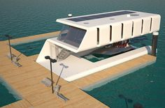 If yacht owners want to park their yacht at commercial marina, they have to pay mooring fee and normally the fare is pretty high depending on the size of the mooring and the length of your stay. Moorings are usually available on first come first serve basis. Based on that condition, this yacht designer has come up with Rieul floating home concept.