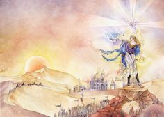 """Stephanie Pui-Mun Law Art; Cover of """"The Dawn Star"""" by Catherine Asaro"""