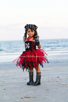 Pirate Tutu Costume sizes 3T 4T Pirate Tutu by LittleBloomsSpokane