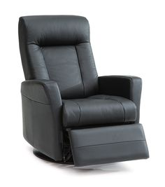 Recliner chair: wall-away in leather.