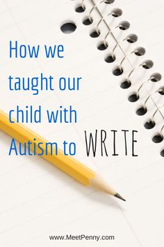 Tips from a mom with a daughter on the Autism Spectrum. Great ideas for building muscle tone and ways to homeschool without using a pencil. Repinned by SOS Inc. Resources pinterest.com/sostherapy/.