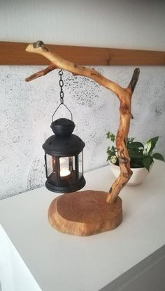 Amazing DIY Home Decor Craft Ideas, You Can Easily Complete unique table tea lamp candle holder driftwood lantern wooden light DIY gift idea homedecor branch lamp natural handmade design tree crafts handmade unique table tea light lantern. Handmade Home Decor, Handmade Design, Diy Home Decor, Handmade Crafts, Diy Home Crafts, Home Decor With Plants, Handmade Lamps, Handmade Table, Handmade Ideas