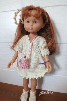 """robe pour les poupées """"petites chéries"""" de Corolle et Paola reina - fildeloire"""