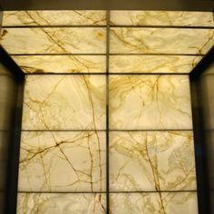 Backlit Onyx Elevator Cabs
