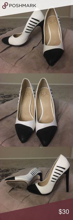 Black and white pointed heels. Super cute heels. Barely worn. Matches with tons of outfits! Shoes Heels