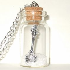 Bottle Necklace Spoonful of Sugar Quirky Unusual Pendant Sweet Spring Fashion. £14.00, via Etsy.