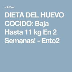 DIETA DEL HUEVO COCIDO: Baja Hasta 11 kg En 2 Semanas! - Ento2