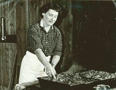 Marian Wolfe (pictured here) was the true inspiration behind the Chuckwagon meal our guests eat each evening at the Flying W Ranch. Marian and her husband Russ started the Flying W Ranch in 1953. Sadly, Marian is no longer with us, but here memory lives on in our hearts and in our tastebuds. We miss you Marian.