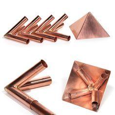 Copper Meditation Pyramid Connector Set - designed for 15mm Diameter metric copper poles