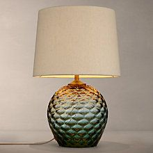 Buy John Lewis Abigail Dimple Ombre Table Lamp, Green Online at johnlewis.com